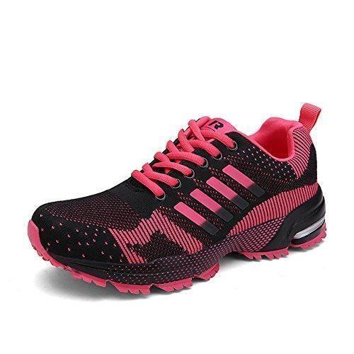 Oferta: 28.89€. Comprar Ofertas de Sollomensi Unisex Zapatos para correr en montaña y asfalto Aire libre y deportes Zapatillas de Running para Hombre Mujer Rosa barato. ¡Mira las ofertas!