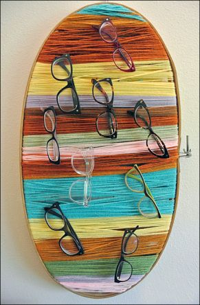 DIY Yarn Eyewear Display Overall