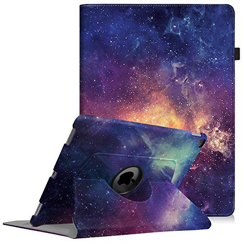 Fintie iPad Pro 12.9 Case - 360 Degree Rotating Stand Case with Smart Protective Cover Auto Sleep / Wake Feature for Apple Pro 12.9 (1st Gen 2015) / iPad Pro 12.9 (2nd Gen 2017), Galaxy  Specifically designed for Apple iPad Pro 12.9 (1st Gen 2015) and iPad Pro 12.9 (2nd Gen 2017). Automatically wakes or puts your device to sleep.  Rotates 360 degrees in the case for flexible landscape and portrait viewing.  Dual Layer hard interior cover and premium synthetic leather exterior perfectly...
