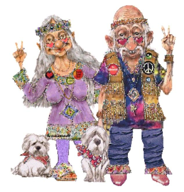 Картинки анимашки дед и бабка