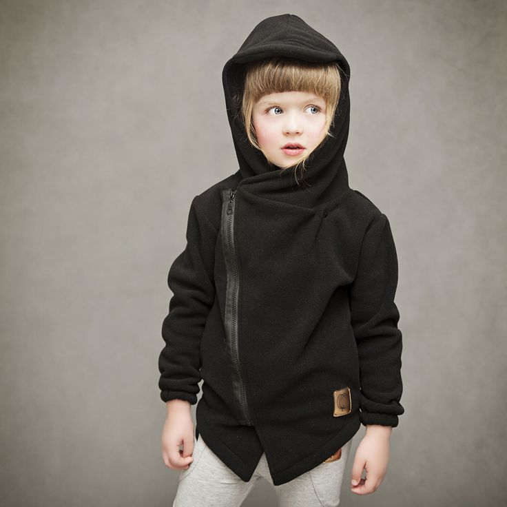 kids fleece black by WataCukrowa