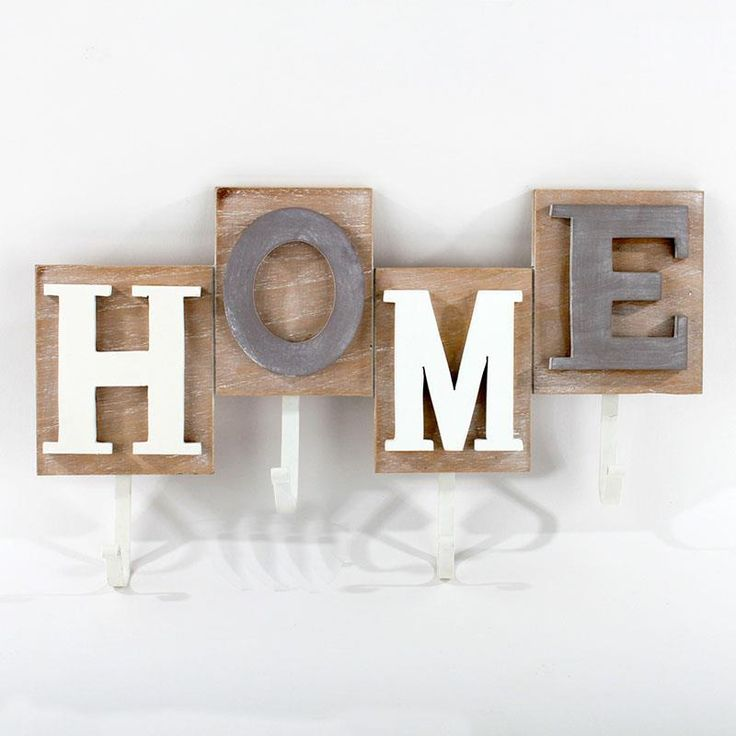 Beautiful wooden wall #hanger with four hooks. www.inart.com
