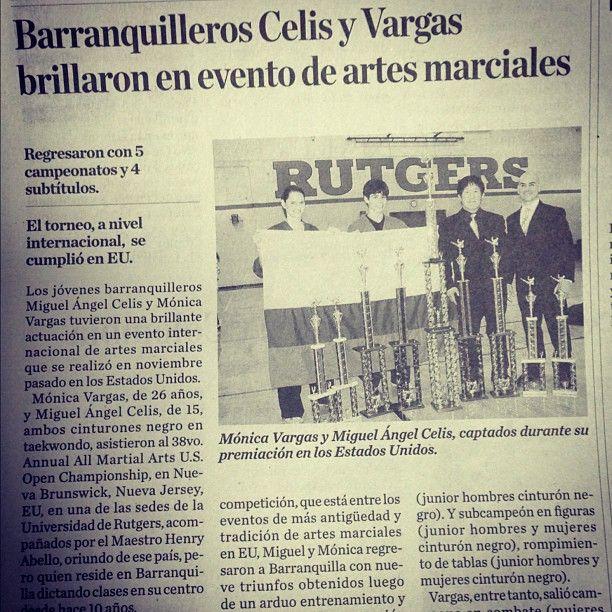 Triunfo para nuestro instructores @Monica Vargas y Miguel Celis. Reportaje de EL HERALDO en Barranquilla - Sección Deportiva.