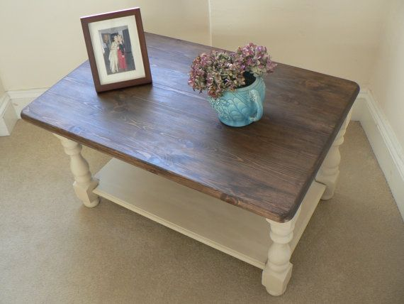 Beautiful Vintage Shabby Chic Coffee Table by RubydoDesigns, £110.00, Love the color combination...