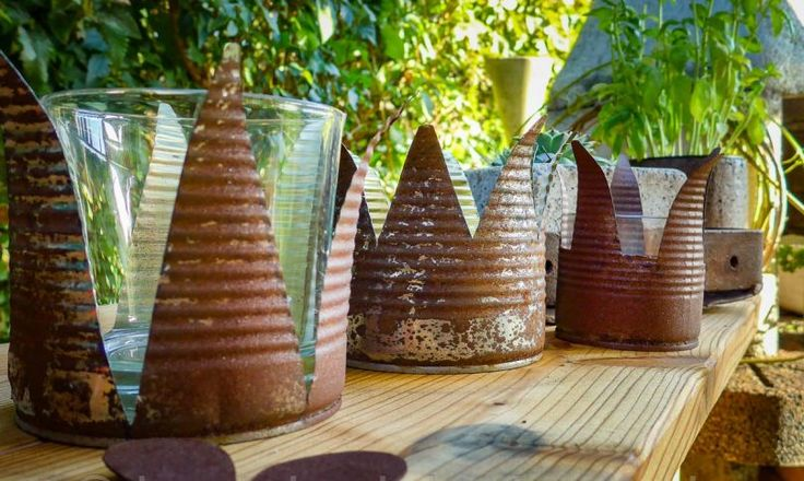 Kronen Teelichthalter selber basteln