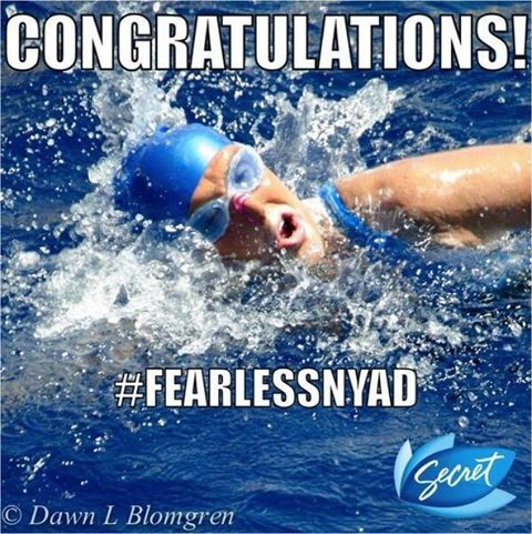 """Just a coincidence that Diana Nyad and Nayad (almost) share a name. But a very good and inspiring coincidence! Congratulations Diana Nyad on making history today; on becoming an icon of power, perseverance, beauty and -- yes -- femininity. """"She shattered every record"""" says CNN reporter.   Diana Nyad, 64, has successfully and powerfully realized her #XtremeDream.   As she always said, """"Onward!"""""""