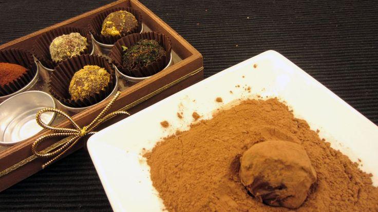 Regala trufas de alta cocina crea distintos sabores: cacao, canela, menta, frutos secos...