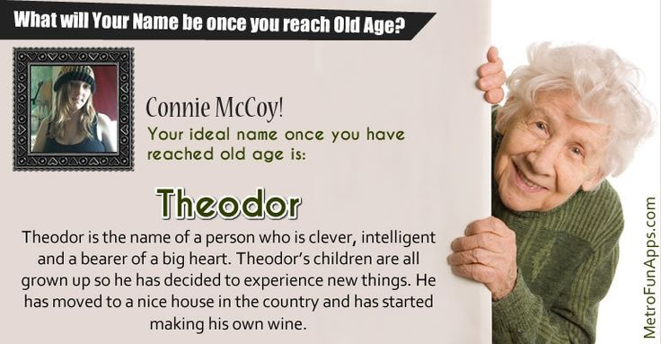 What will your name be once you reach old age? Let's find what will your name be once you reach old age?