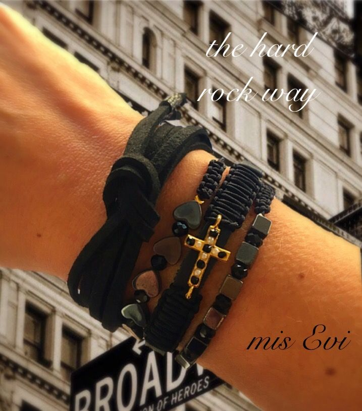 The hard rock way!!!! Handmade bracelets