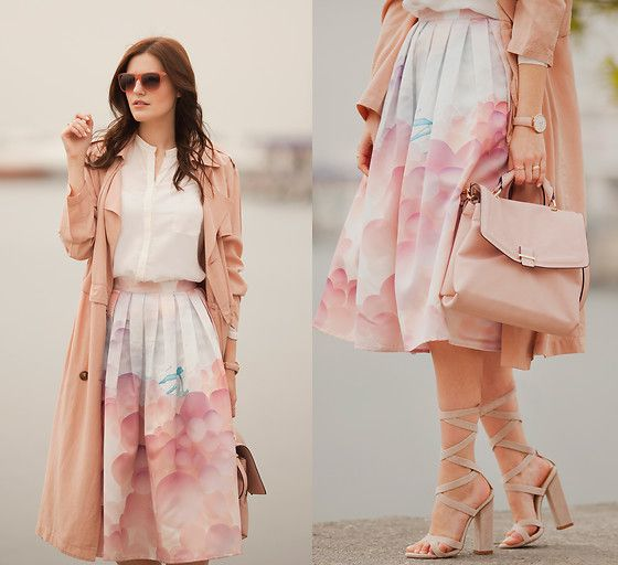Viktoriya Sener - Front Row Shop Trench Coat, Zara Silk