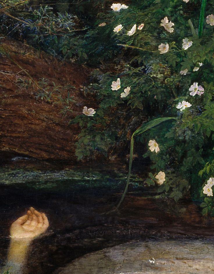 detail of ophelia by john everett millais