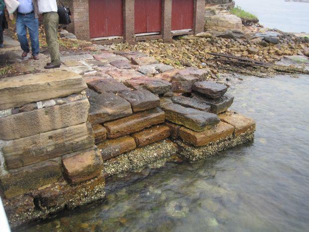 Convict built wharf - Goat Island