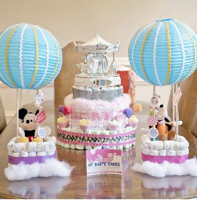 Hot Air Balloon Diaper Cakes