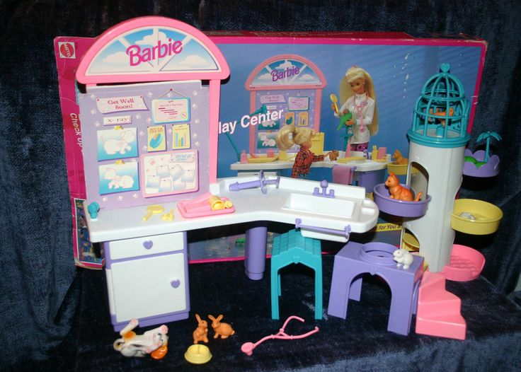 Barbie Pet Doctor Check up & Play center Box Mattel