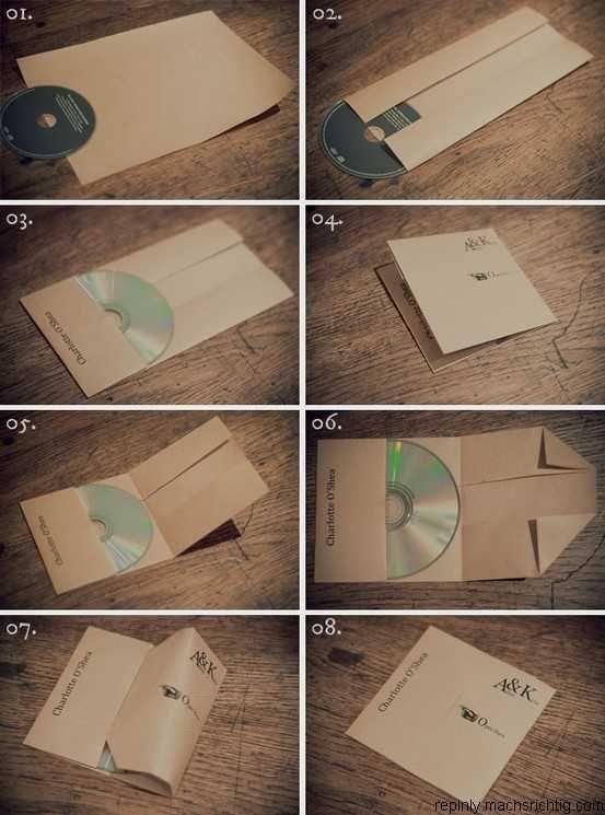 DIY folded CD cases.
