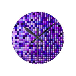 Shades Of Purple Clocks, Shades Of Purple Wall Clock Designs