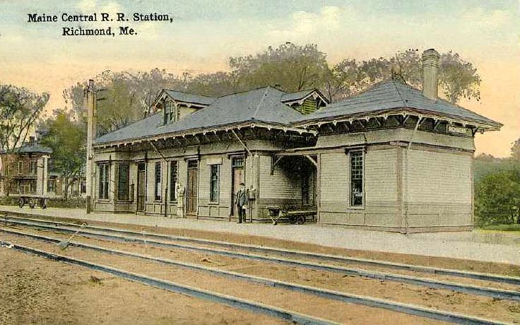 Maine Central Railroad Station Richmond Me Early 1900s