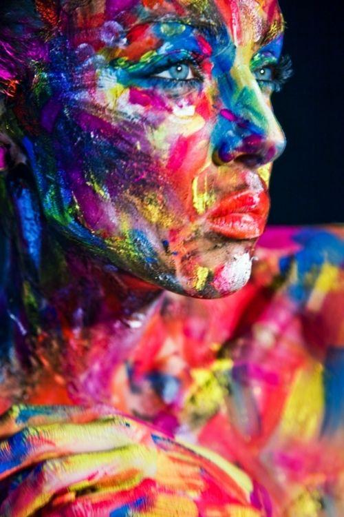 Glass Wall Art Acrylic Decor Colored Painted Woman, 5 Stars Gift Startonight…