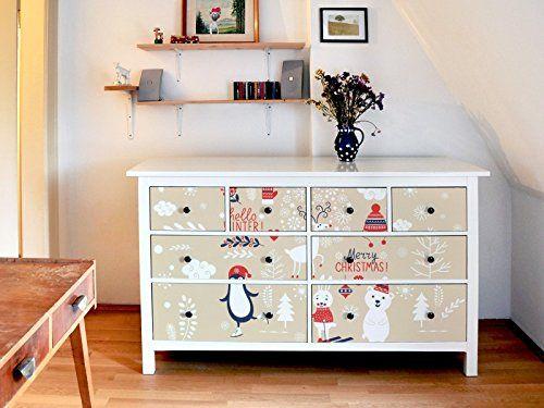 yourdea pegatinas muebles caja plegable para mueble ikea hemnes armario cm x cm