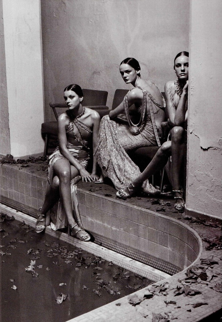 """Jessica Stam, Lisa Cant, and Caroline Trentini in """"Wonder,"""" shot by Steven Meisel for Vogue Italia"""