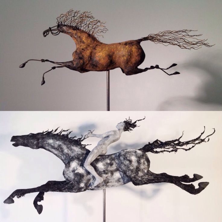 New sculptures. Wild Horses!