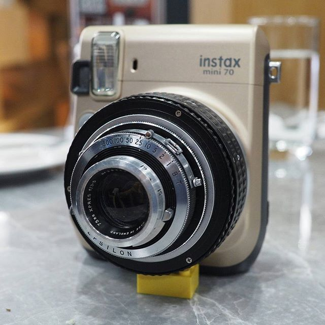 Modified Instax Mini 70 with a Ross London lens Perfectly preserve the original ejection system. With full access to aperture from F3.5 to F22, shutter speed from 1s to 1/300s. Pls refer to the blog link in bio for more details. There is a new post about the details of this modification. #voigtlander #instant #Instax #instaxmini #instaxmini70 #mini70 #polaroid #cupcakestax #yashica #snapitseeit #impossibleproject #lomo #lomoinstant #instaxwide300改 #instaxwide #lomography #mintcamera #film...