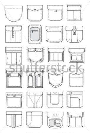tipos de bolsos de calça - Pesquisa Google