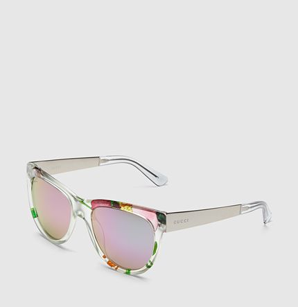 Gucci - flora silk cat-eye sunglasses
