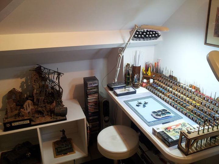 14 Best Images About Miniature Painting Desk On Pinterest