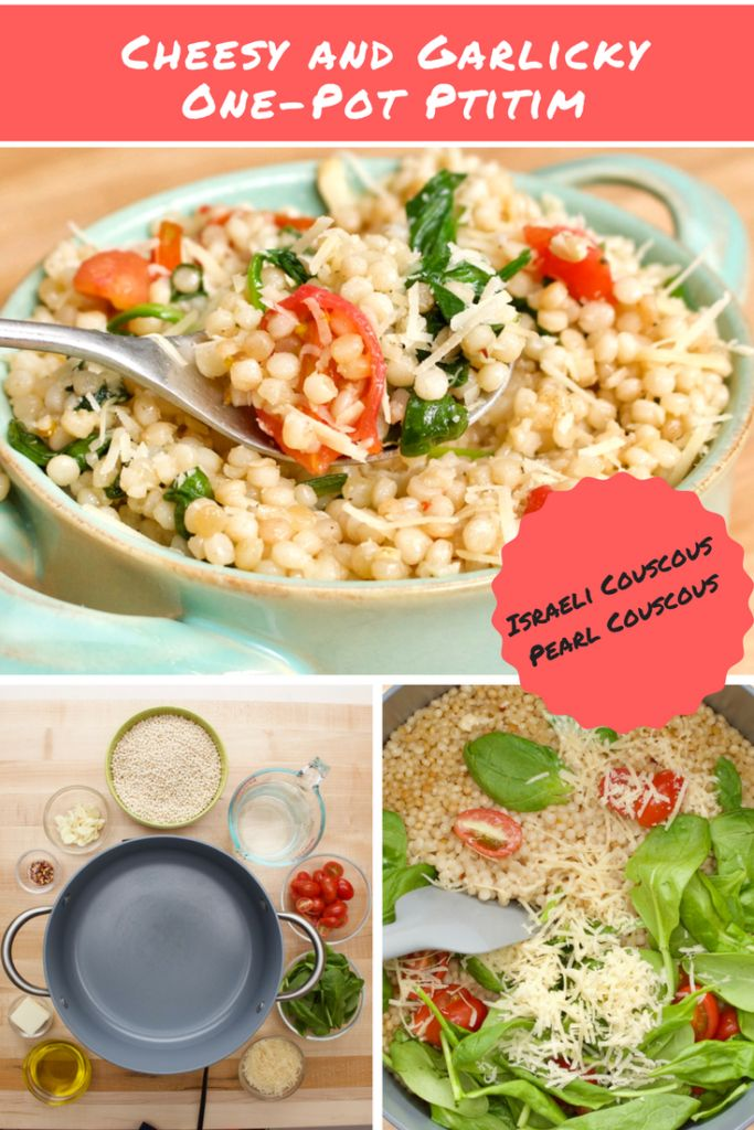 Garlicky and Cheesy One-Pot Israeli Couscous