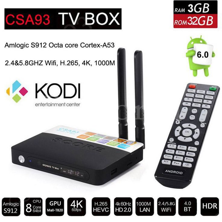 3 GB 32 GB Amlogic CSA93 S912 אוקטה Core אנדרואיד 6.0 הטלוויזיה Box 2.4/5 גרם Meida נגן חכם WiFi H.265 4 K 1000 M להוסיף מקלדת i8 תאורה אחורית