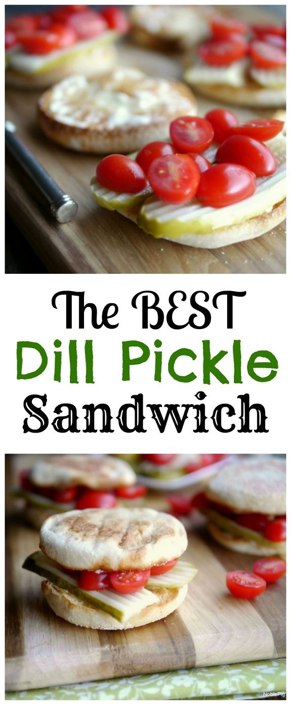 The Best Dill Pickle Sandwich...you've never tasted anything like it, from NoblePig.com.