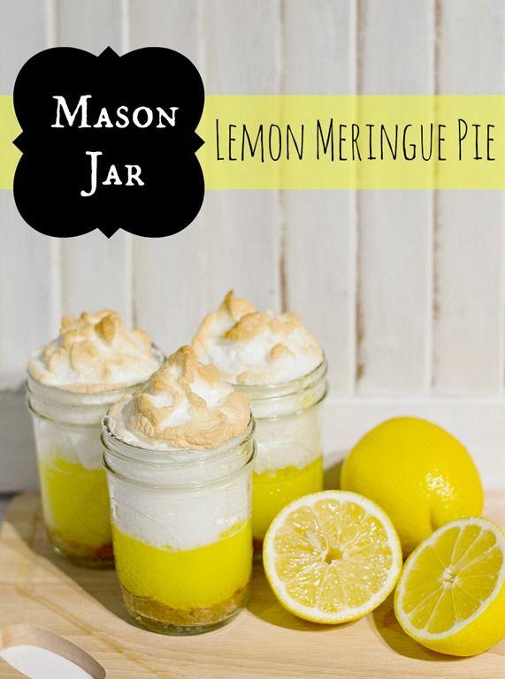 easy mason jar lemon meringue pie
