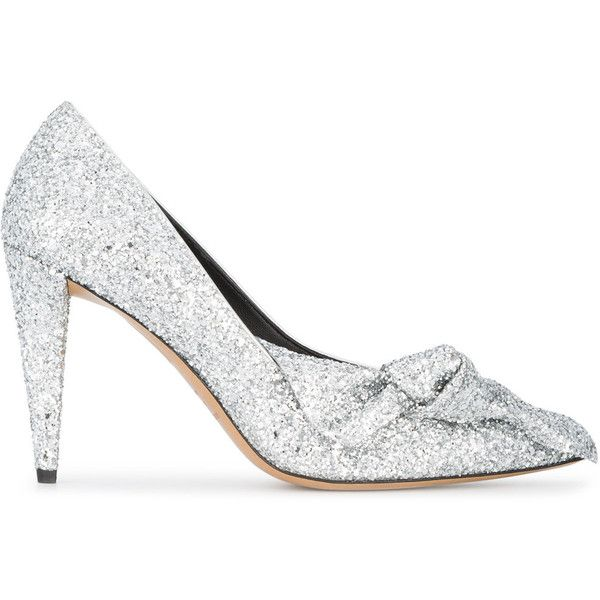 Isabel Marant Poetty 100 silver glitter heels ($660) ❤ liked on Polyvore featuring shoes, pumps, grey, pointy-toe pumps, silver glitter shoes, pointed toe pumps, glitter pumps and grey pointed toe pumps