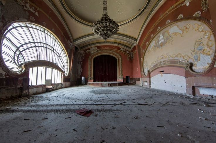 An abandoned casino in Romania