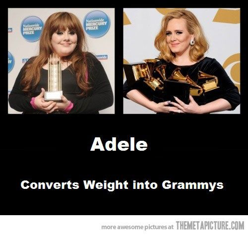 funny Adele fat before after