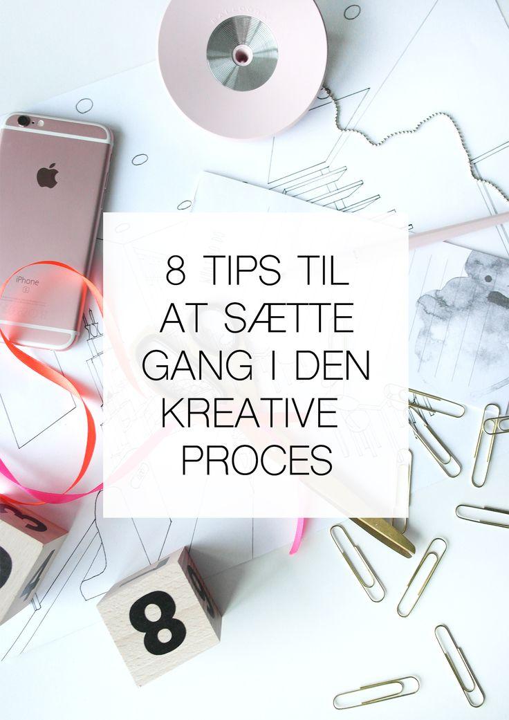 Sæt gang i den kreative proces ved hjælp af disse 8 metoder.  Jeg anvender dem selv ofte og de hjælper tit videre, hvis jeg er gået i stå i en opgave.