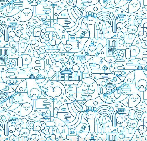 Ilustración por Jonathan Calugi. #dibujo #azul