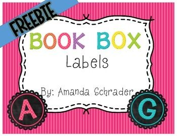 BACK TO SCHOOL FREEBIE- Chalkboard Book Box Labels!