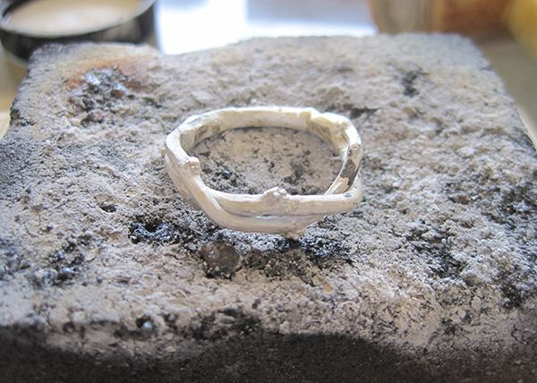 How It S Made Twig Wedding Rings From Olivia Ewing Custom Bands Cast Real Twigs Prospect Park Brooklyn