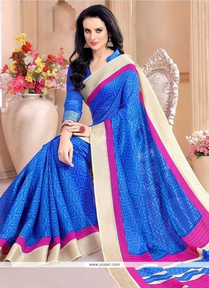 Transcendent Silk Blue Casual Saree Model: YOSAR9748