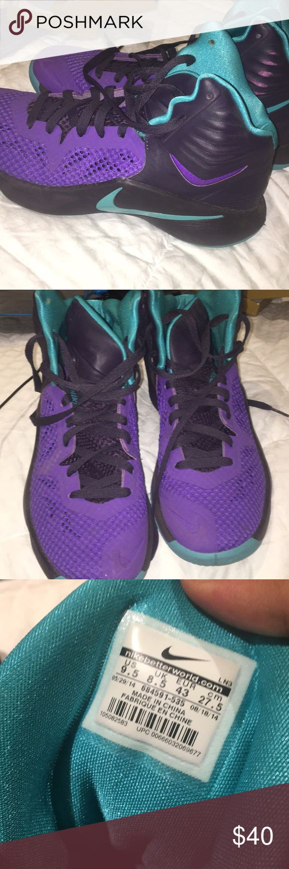 Nike Men's hyperfuse shoes size 9.5 Nike Men's hyperfuse basketball shoe size 9.5, used for half a basketball season, still in good condition, lots of life left in them! Great price as well, leave offers:) Nike Shoes