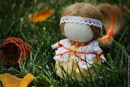 Куколка на счастье. Осеннее настроение - оранжевый,осенний,куколка на счастье