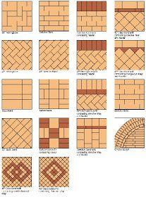 Brick paver patterns.