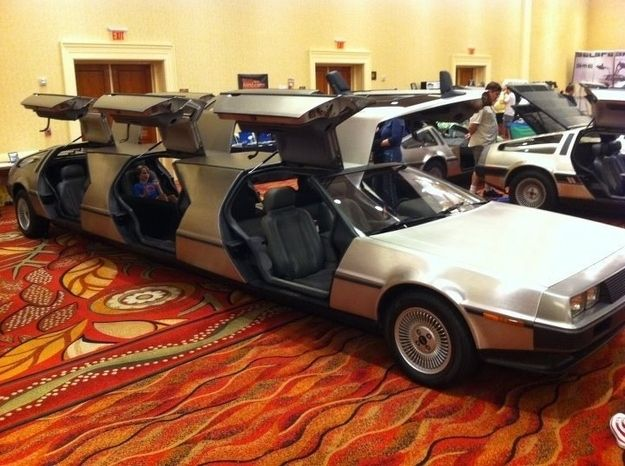 DeLorean Limousine Lets You Go Back To The Future With A Party