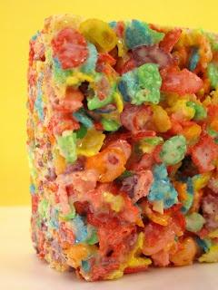 Rainbow Fruity Pebbles Crispy Treats...who couldn't love this stuff?