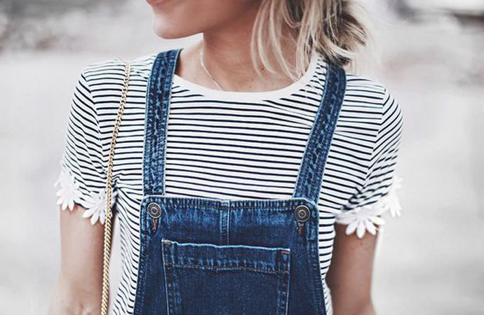 Salopette denim dress