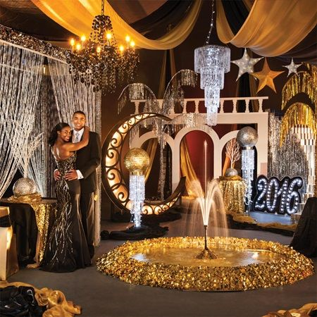 Razzmatazz Complete Prom Theme-Perfect, Glamorous Decorations for Prom 2016.  The Great Gatsby or 1920's Roaring 20's parties