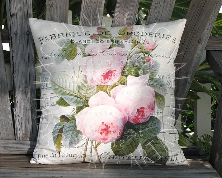 Shabby Chic Body Pillow Cover : 74 best images about pillows on Pinterest French, Pillow covers and Paris