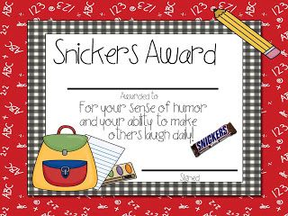 Free Candy Awards- 36 different color and black and white.